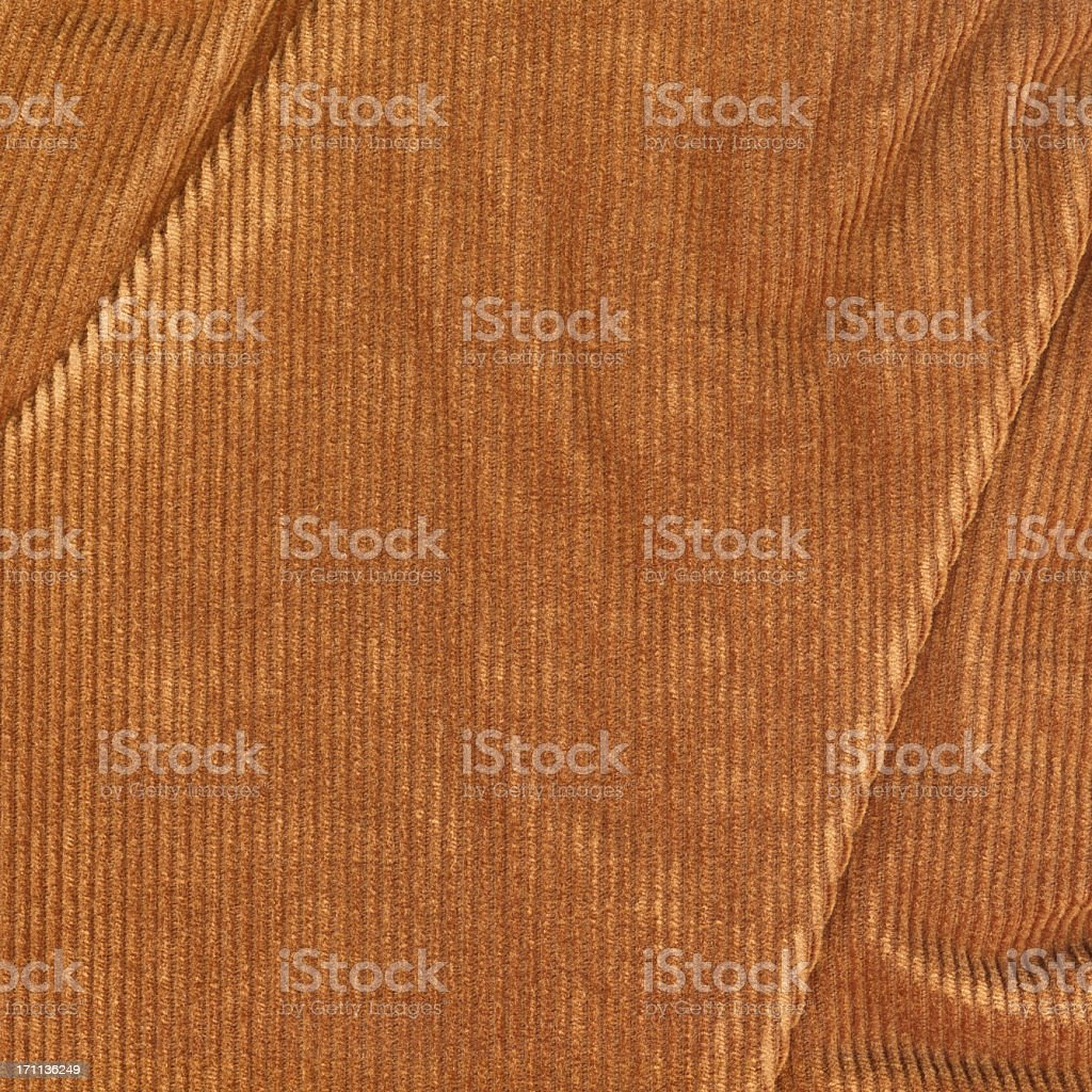 High Resolution Brown Corduroy Wrinkled Texture Sample stock photo