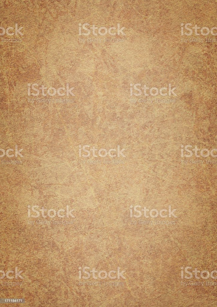 High Resolution Brown Grunge Painted Vignetted Watercolor Paper Texture royalty-free stock photo