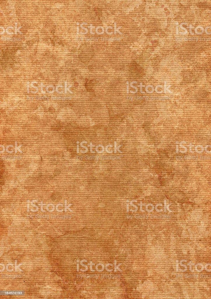 High Resolution Brown Striped Kraft Paper Dappled Grunge Texture royalty-free stock photo