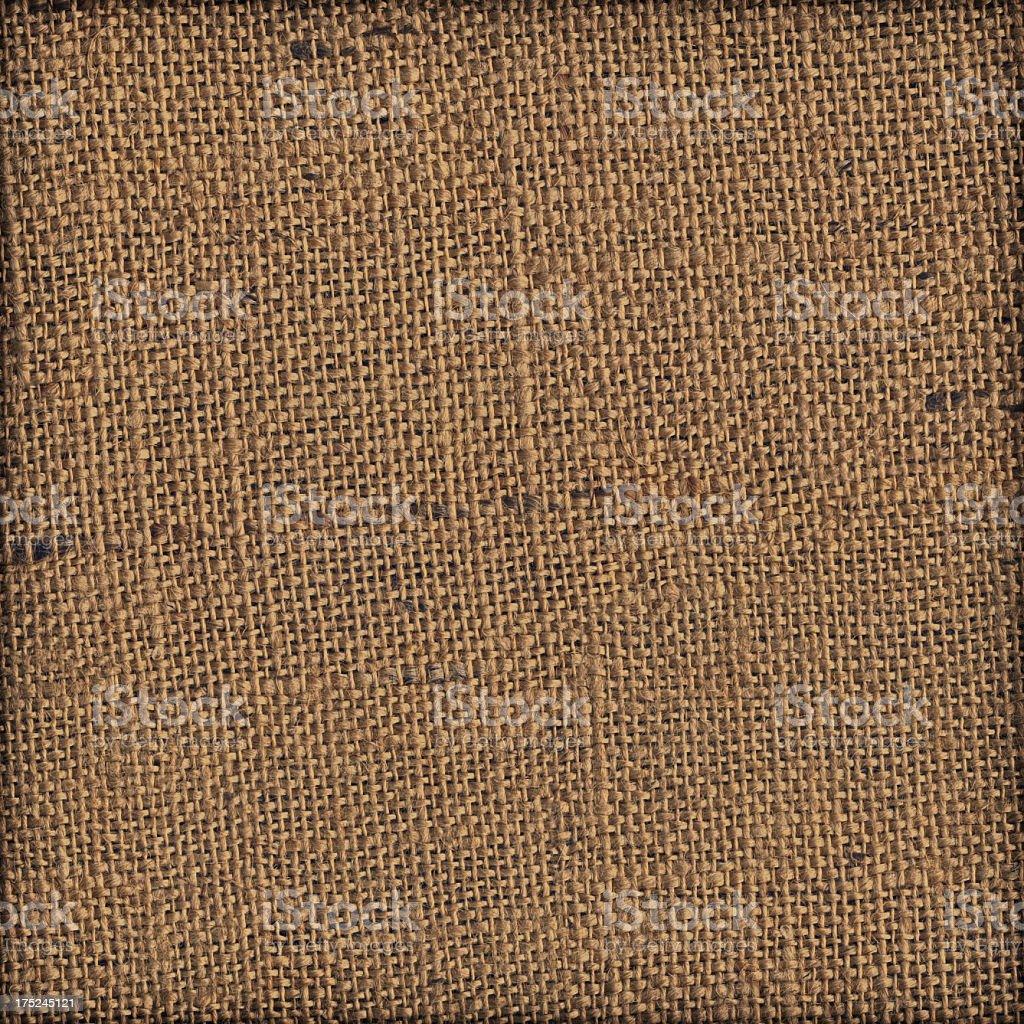 High Resolution Burlap Canvas Coarse Grain Vignette Grunge Texture royalty-free stock photo