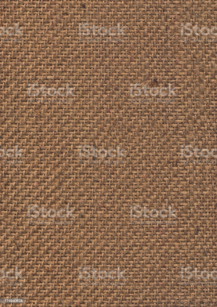 High Resolution Burlap Canvas Coarse Grunge Texture royalty-free stock photo