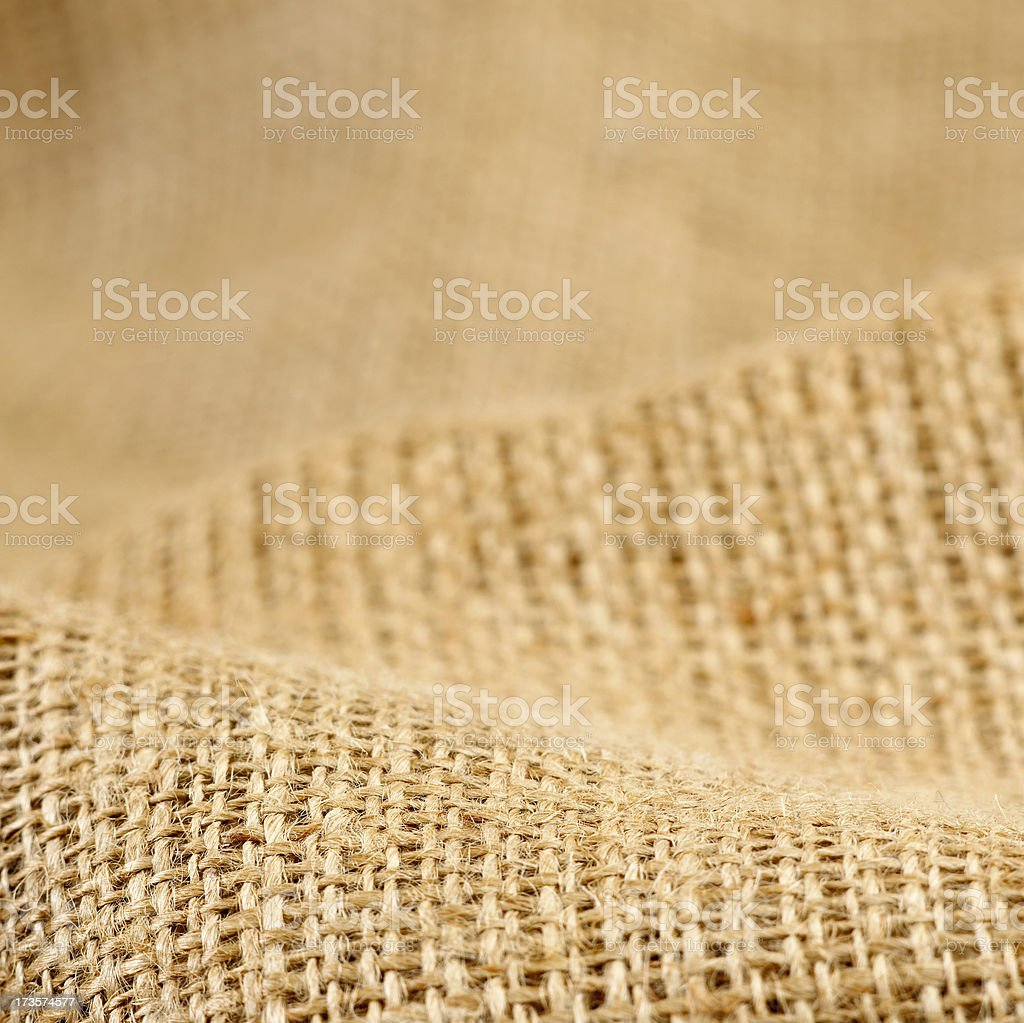 High resolution burlap sack royalty-free stock photo