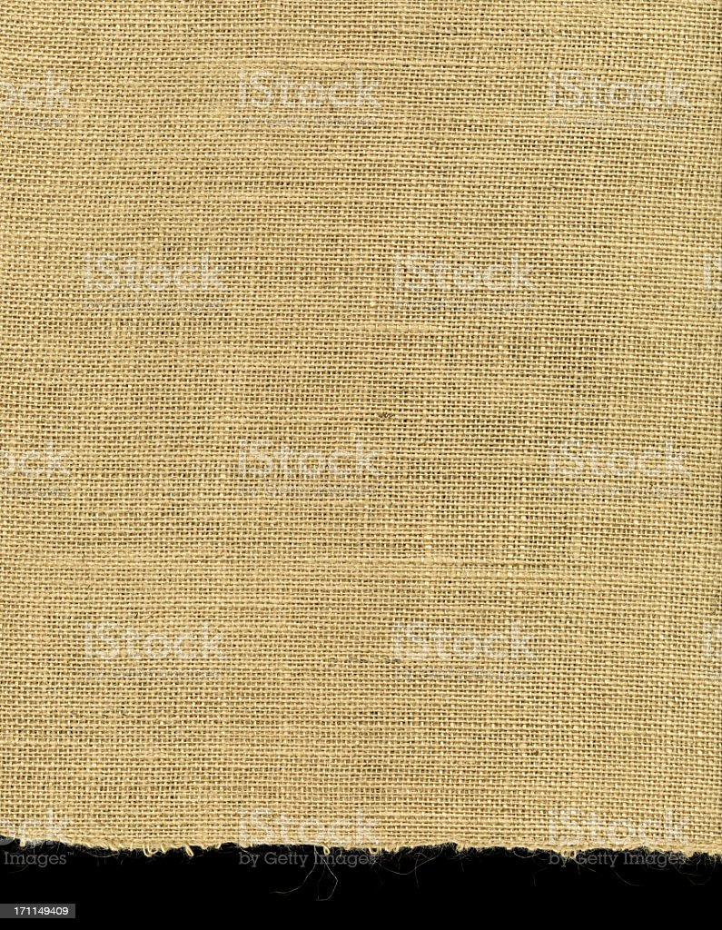High Resolution Burlap With Ragged Edge royalty-free stock photo