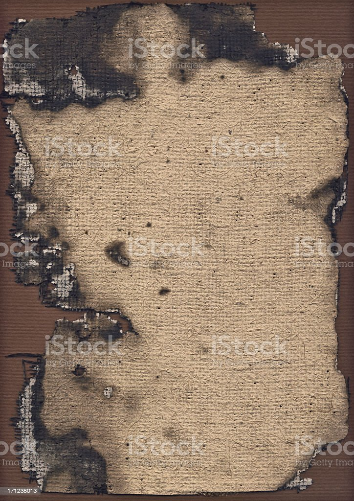 High Resolution Burnt Primed Jute Canvas Grunge Texture royalty-free stock photo
