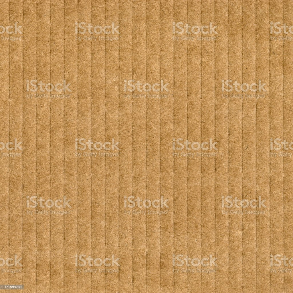High Resolution Cardboard Corrugated Grunge Brown Texture royalty-free stock photo