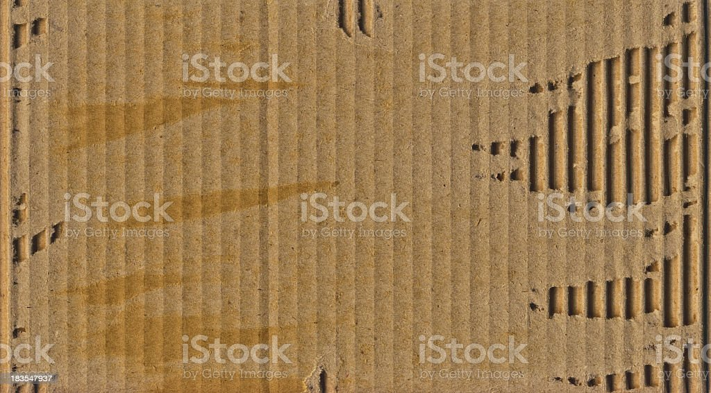 High Resolution Cardboard Corrugated Torn Grunge Texture royalty-free stock photo