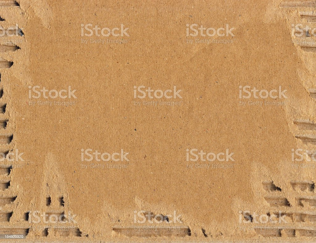 High Resolution Cardboard Corrugated Torn Texture stock photo