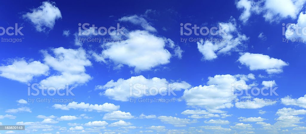 High Resolution Cloudscape Panorama stock photo