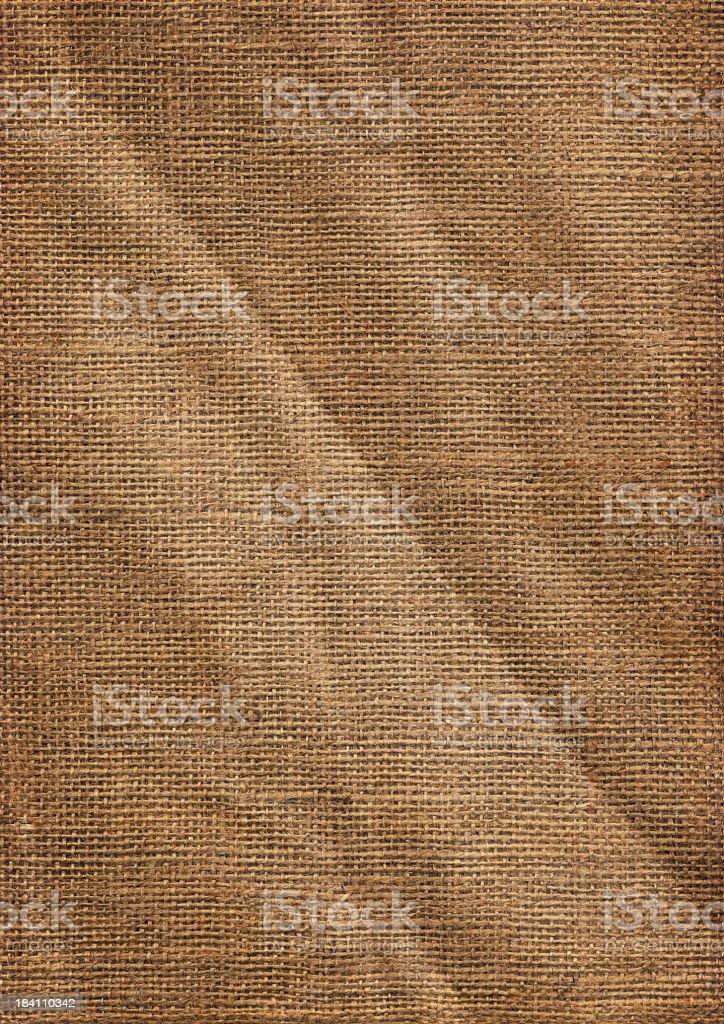 High Resolution Coarse Grain Jute Canvas Crumpled Texture royalty-free stock photo