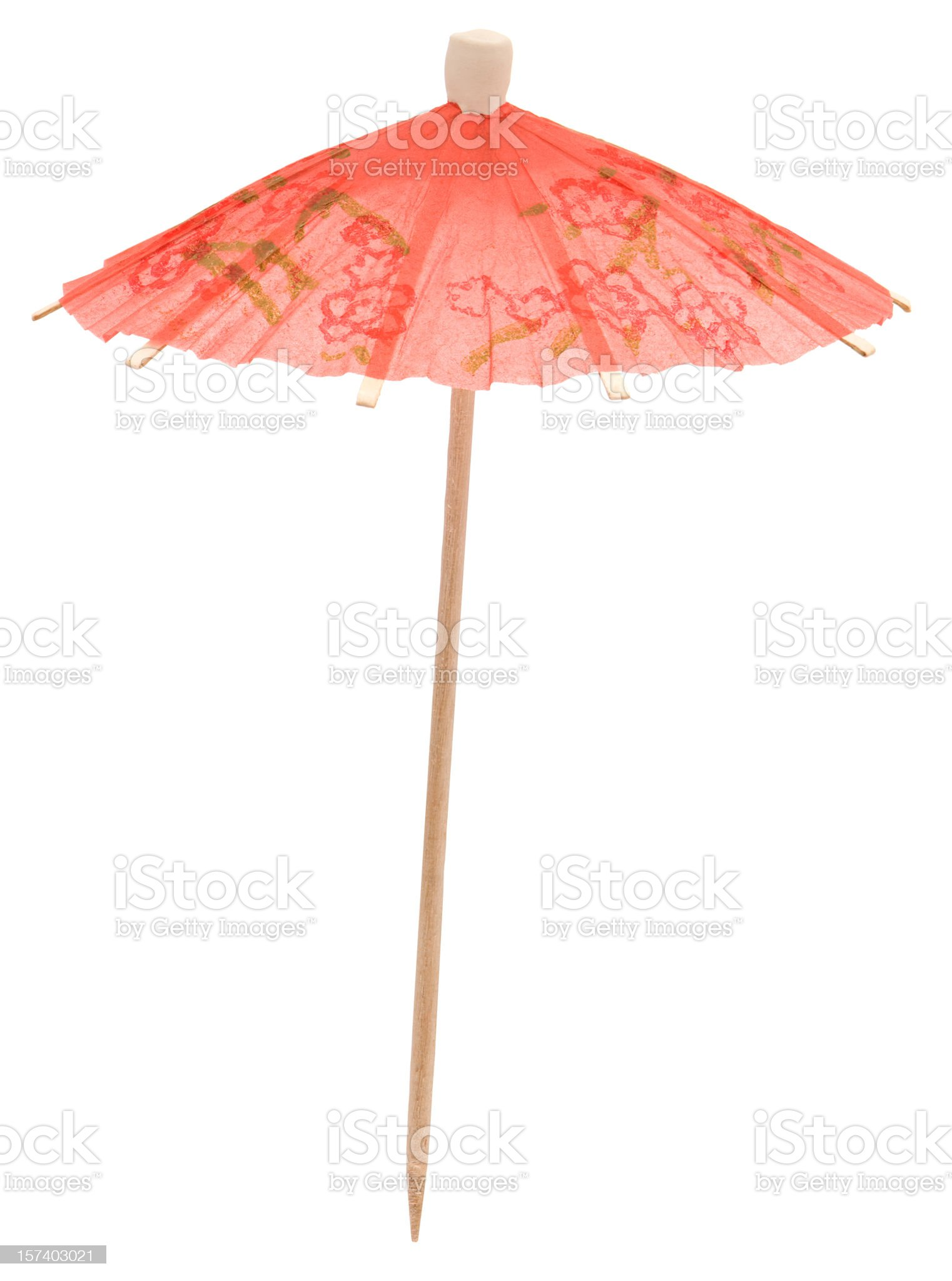 High Resolution Cocktail Umbrella royalty-free stock photo