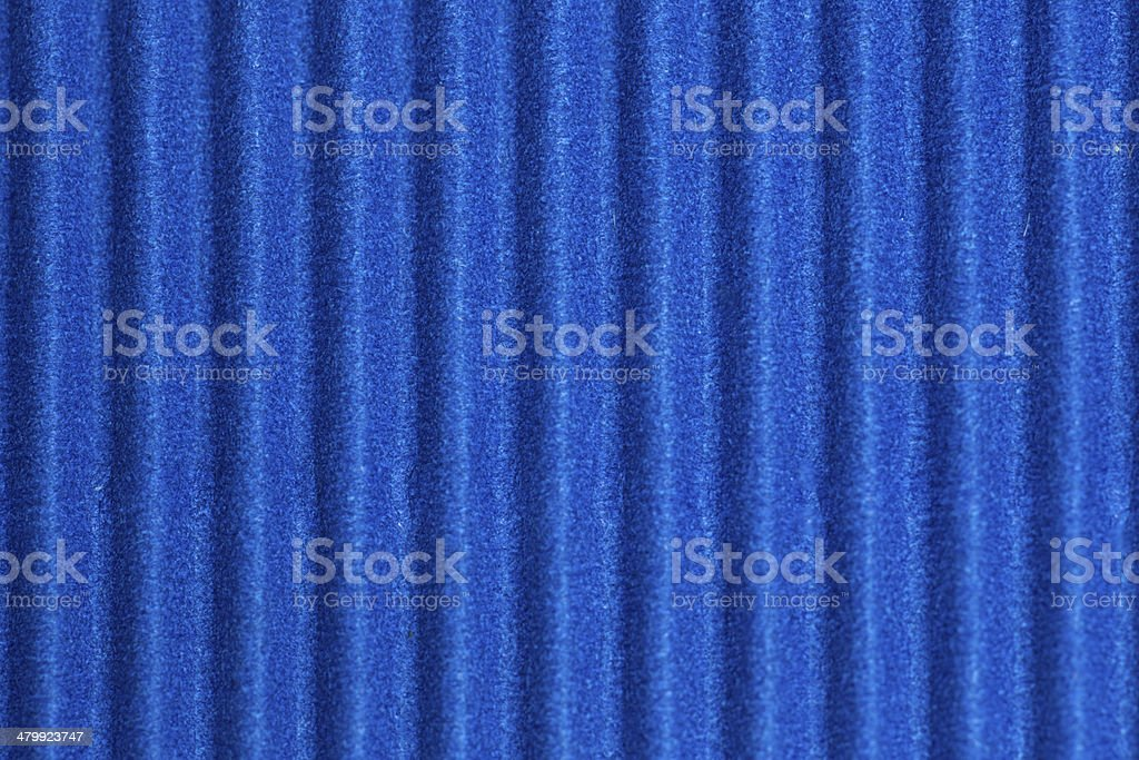 High resolution Corrugated blue cardboard royalty-free stock photo
