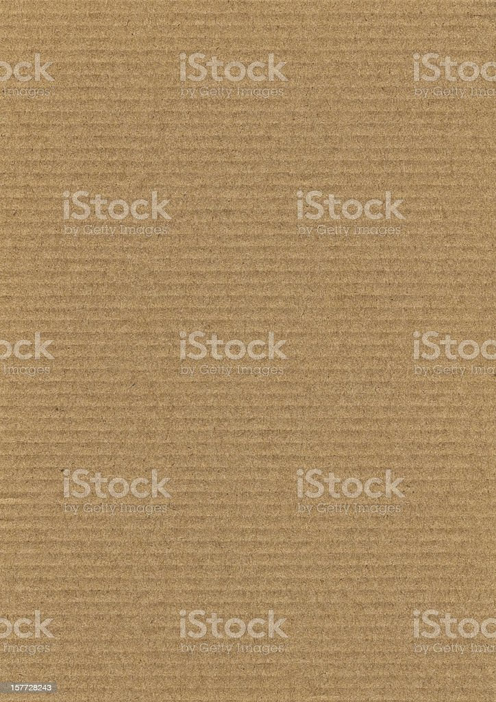 High Resolution Corrugated Cardboard Grunge Texture royalty-free stock photo