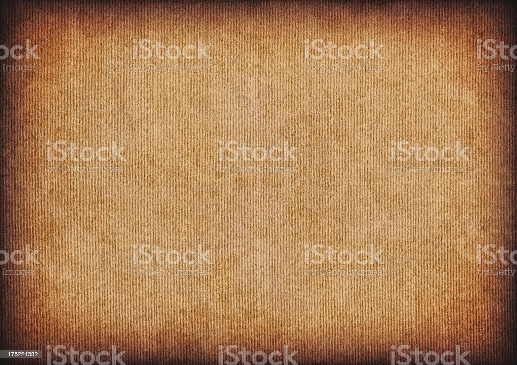 High Resolution Corrugated Cardboard Vignette Grunge Texture royalty-free stock photo