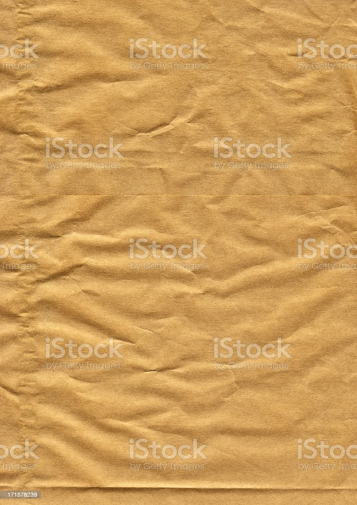 High resolution crumpled brown paper background royalty-free stock photo