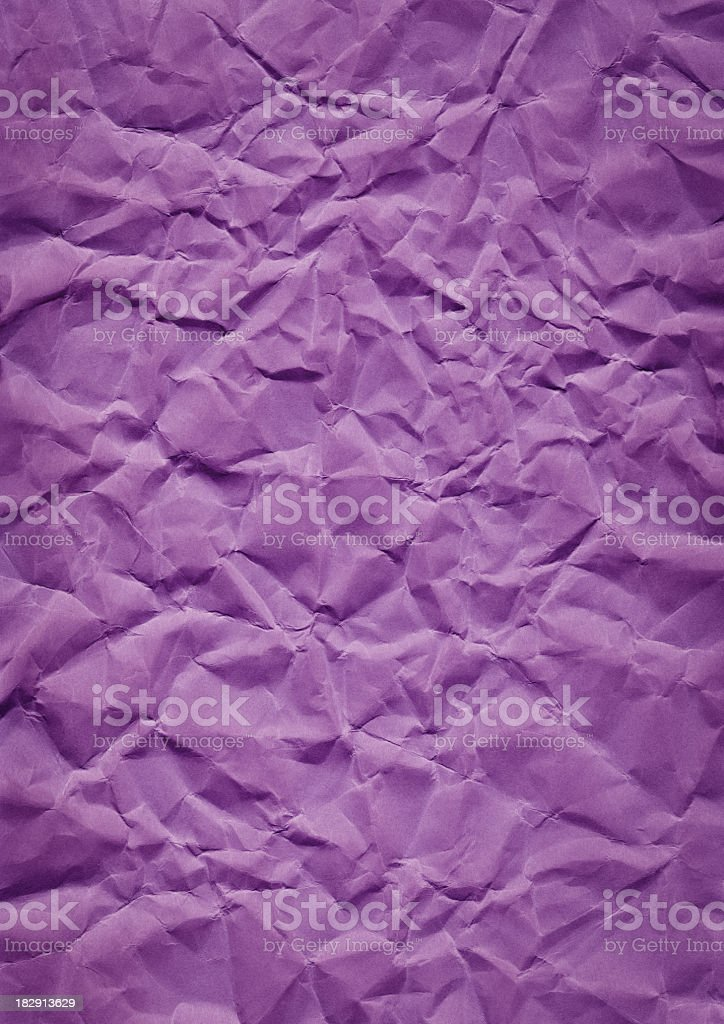 High Resolution Crushed Watercolor Paper Purple Grunge Vignetted Texture royalty-free stock photo