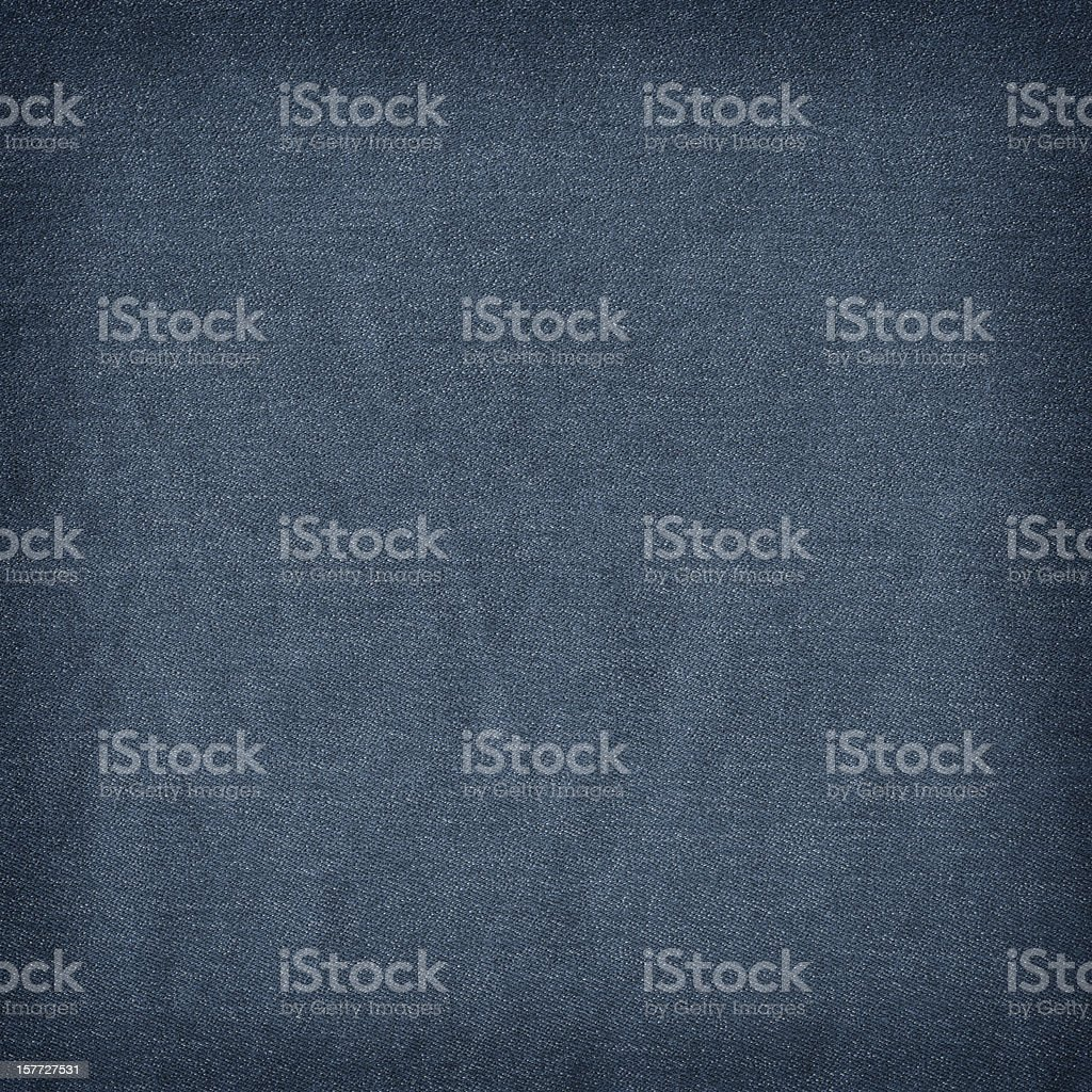 High Resolution Deep Blue Denim Crumpled Grunge Texture Sample stock photo