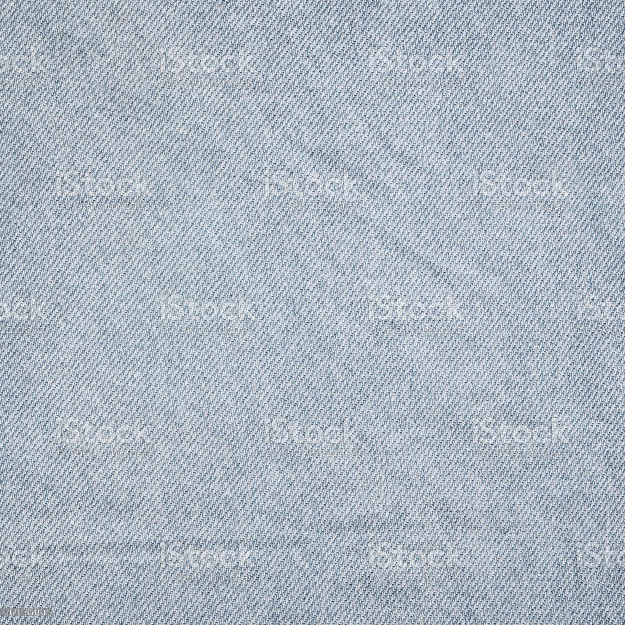 High Resolution Denim Light Blue Medium Coarse Texture Sample royalty-free stock photo