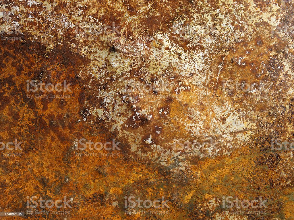 High Resolution Distressed Rusty Metal royalty-free stock photo
