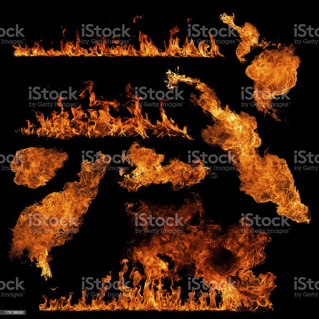 high resolution fire collection royalty-free stock photo