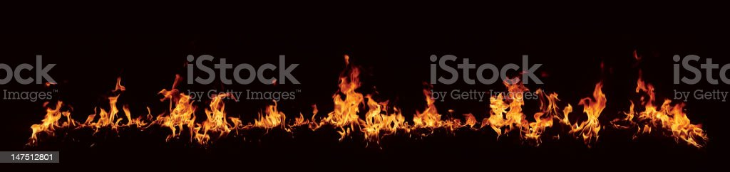 XXXL High resolution fire flames royalty-free stock photo