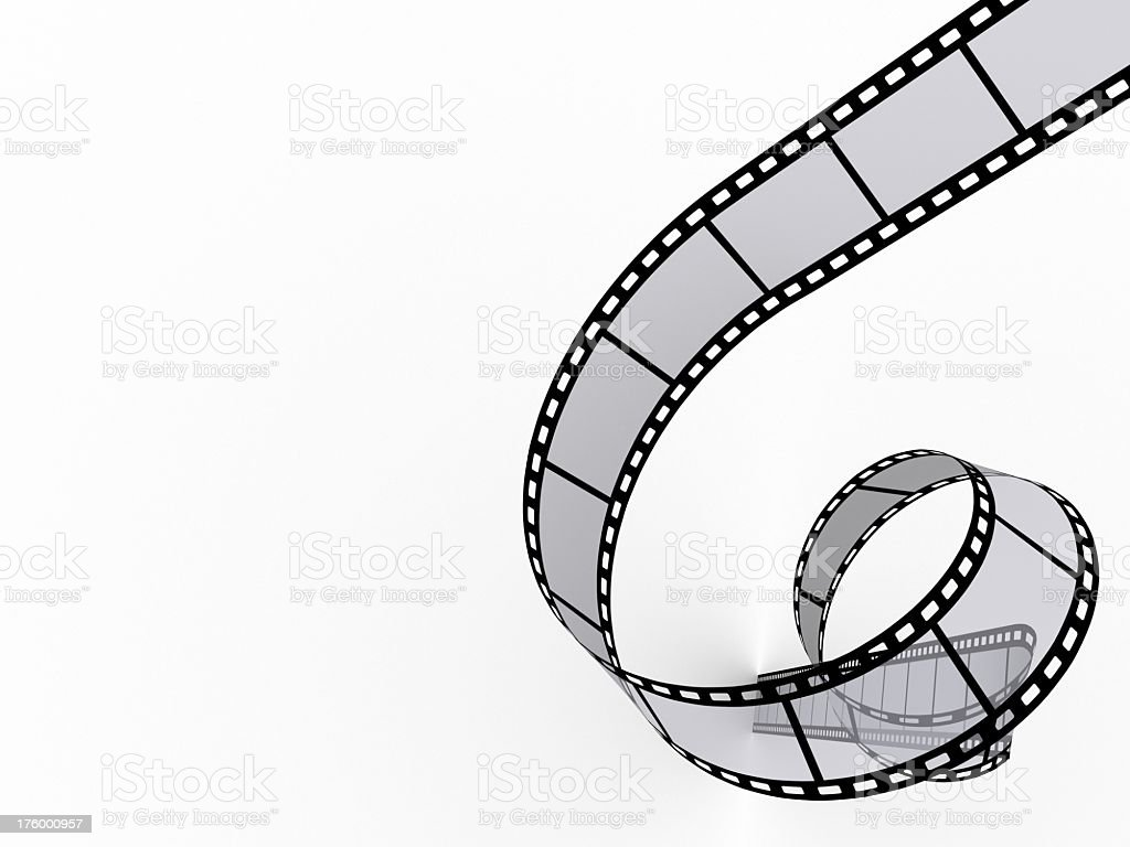 High Resolution Graphic of a reel of film unwinding royalty-free stock photo