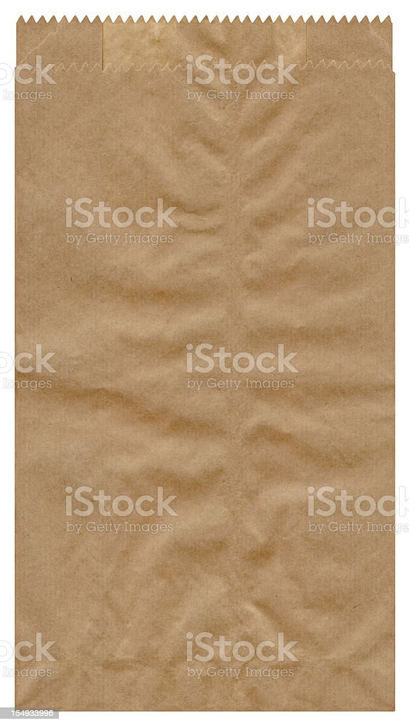 High Resolution Isolated Brown Paper Grocery Bag stock photo