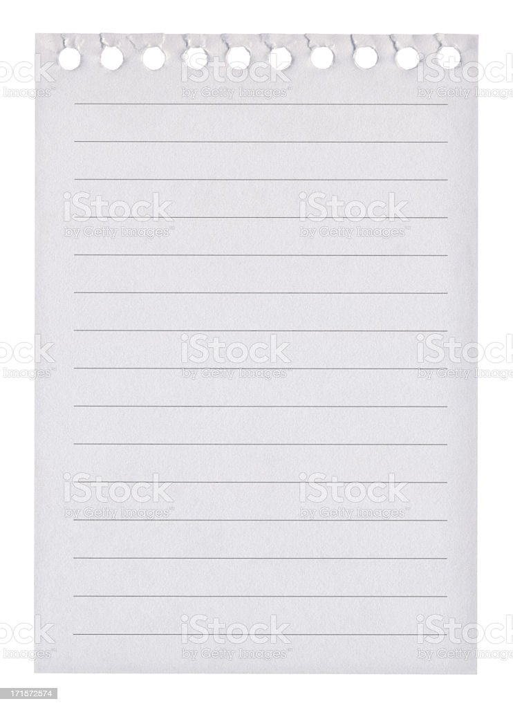 Sheets Of Ripped And Torn Lined Spiral Notebook Paper Pictures