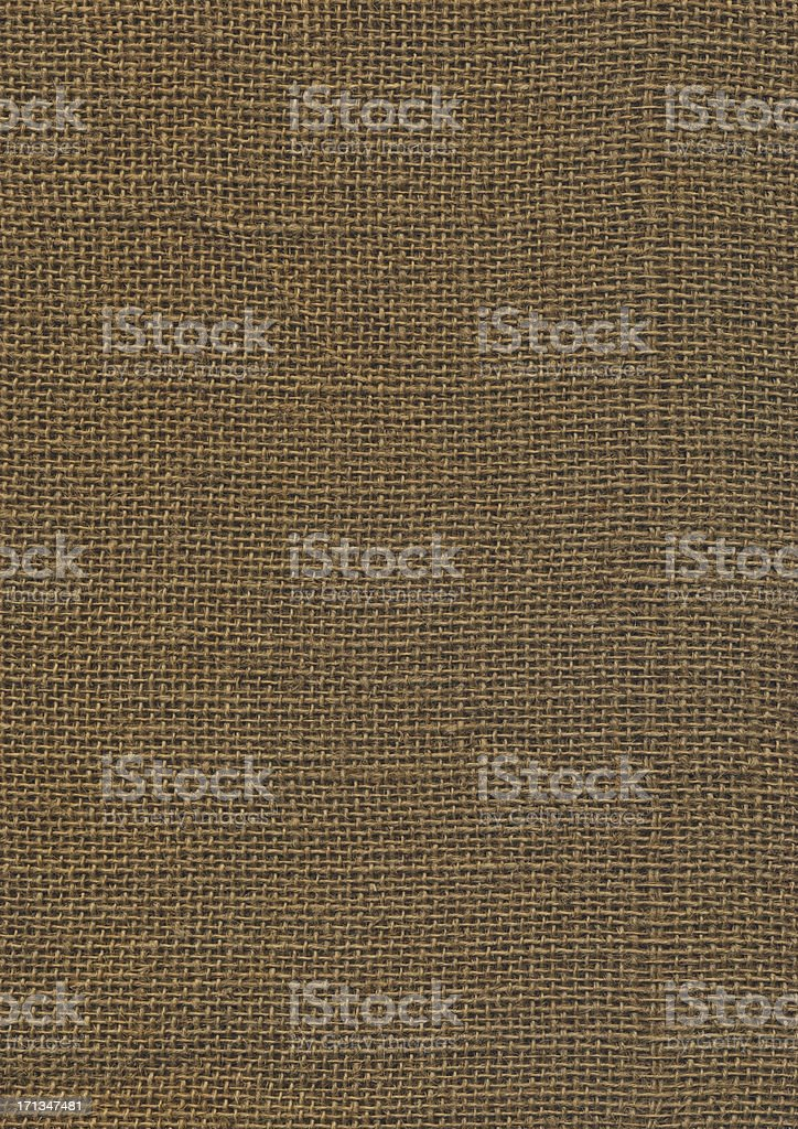 High Resolution Jute Coarse Grain Canvas Texture royalty-free stock photo