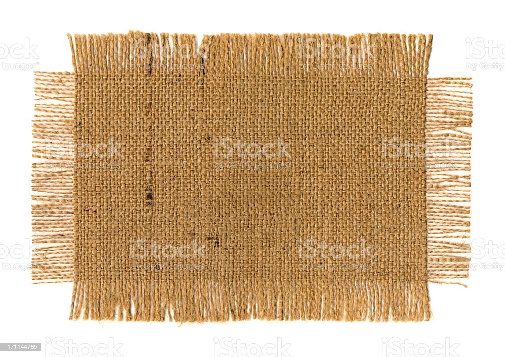 High Resolution Jute Fabric Frayed Grunge Sample royalty-free stock photo