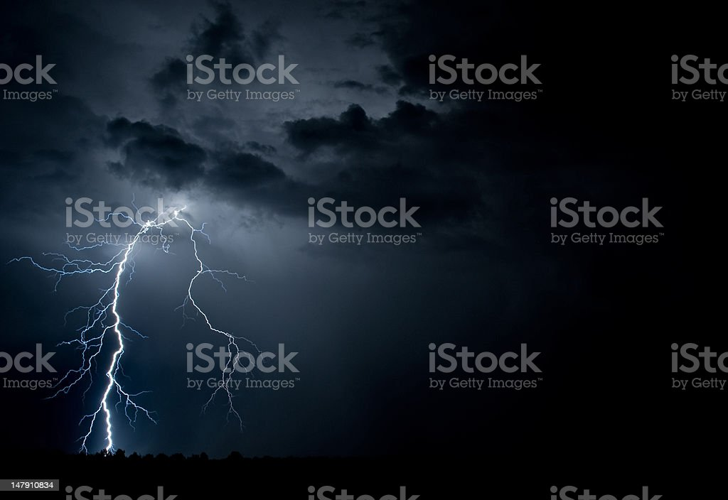 High resolution lightning stock photo