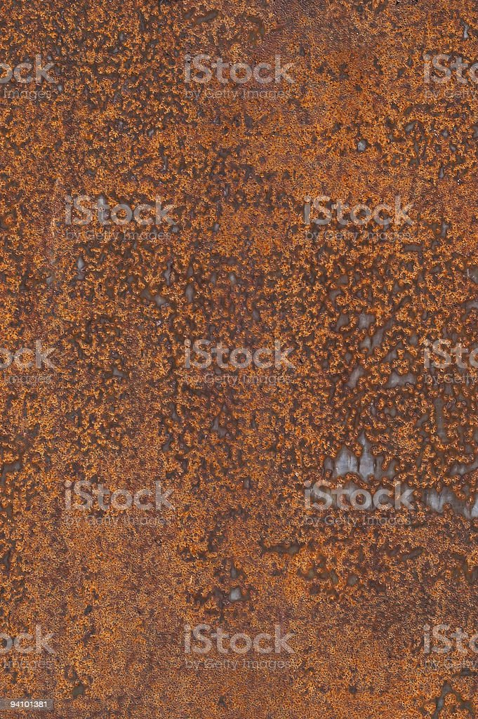 High Resolution Metallic Rusty Textured Wall Background royalty-free stock photo