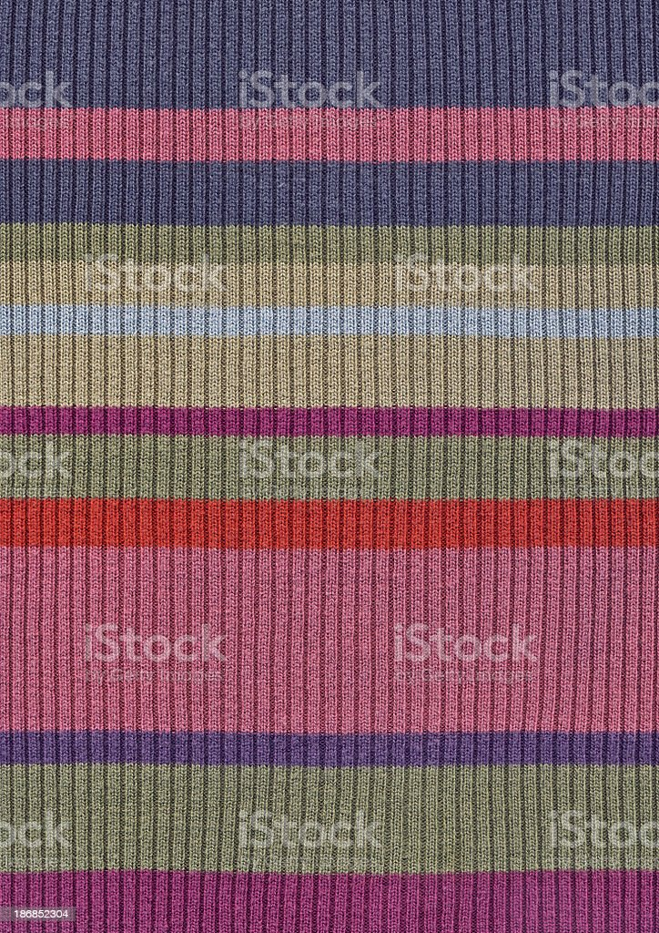 High Resolution Multicolored Knited Cotton-Lycra Fabric Texture stock photo