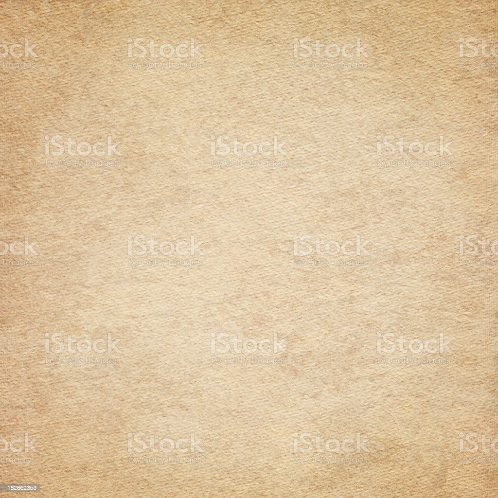 High Resolution Old Beige Card Stock Watercolor Paper Vignetted Texture royalty-free stock photo