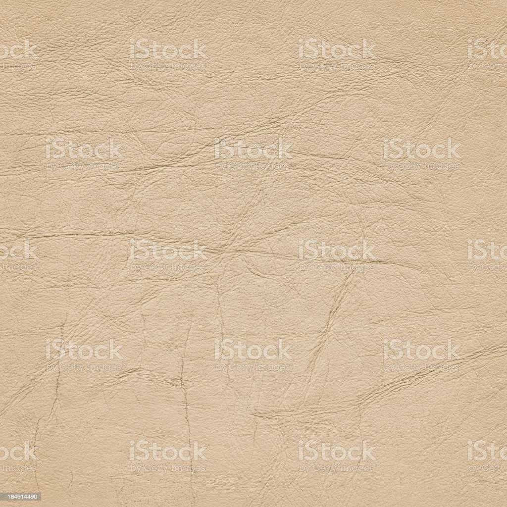 High Resolution Old Beige Leather Crumpled Wizened Grunge Texture royalty-free stock photo