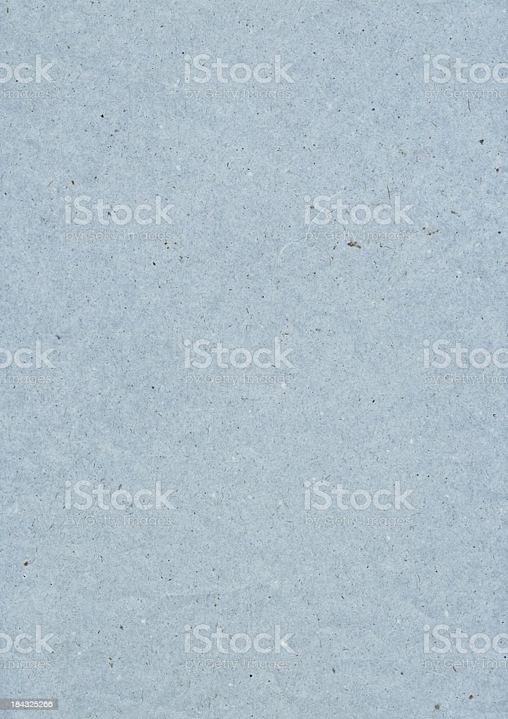 High Resolution Old Coarse Powder Blue Recycled Paper Grunge Texture royalty-free stock photo