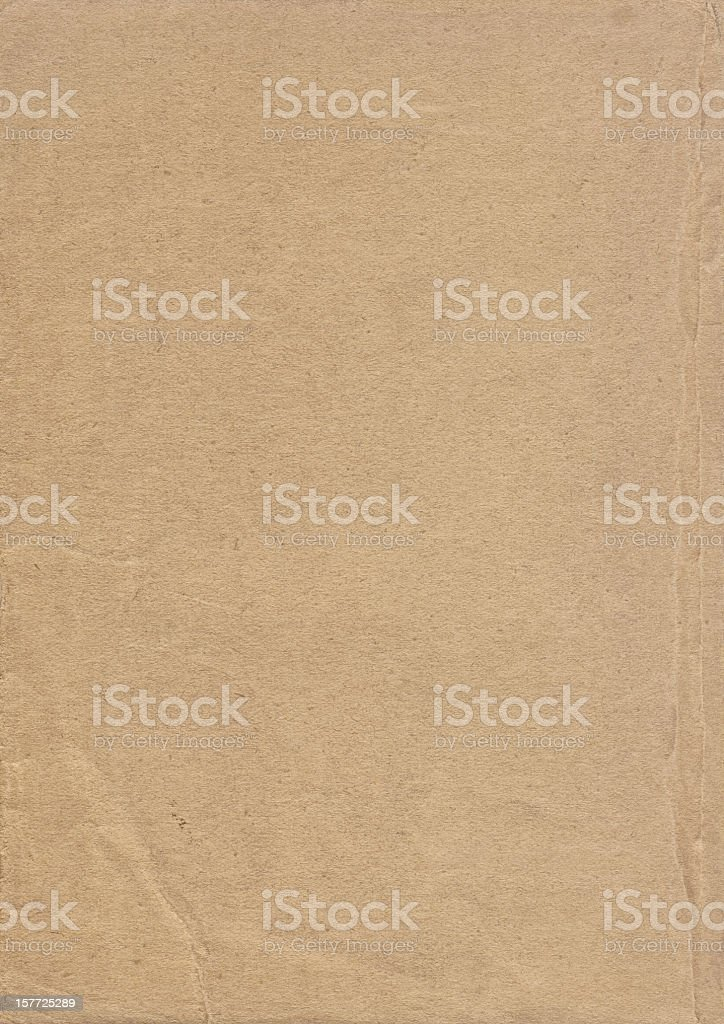 High Resolution Old Crumpled Light Brown Paper Grunge Texture royalty-free stock photo