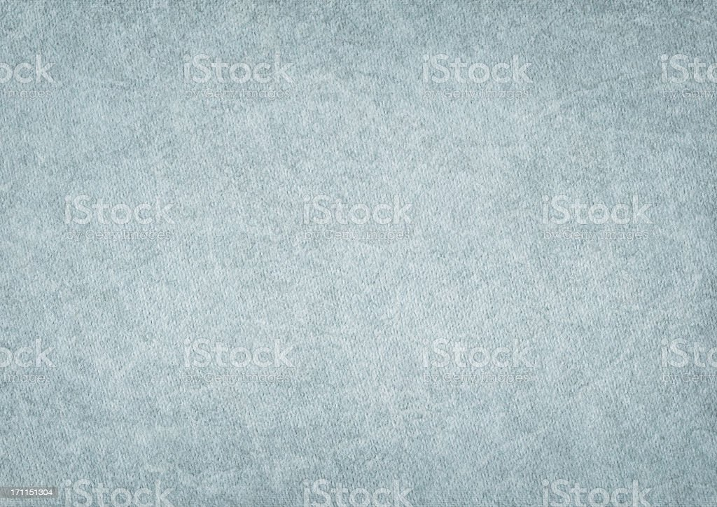 High Resolution Old Grunge Watercolor Powder Blue Paper Vignetted Texture stock photo