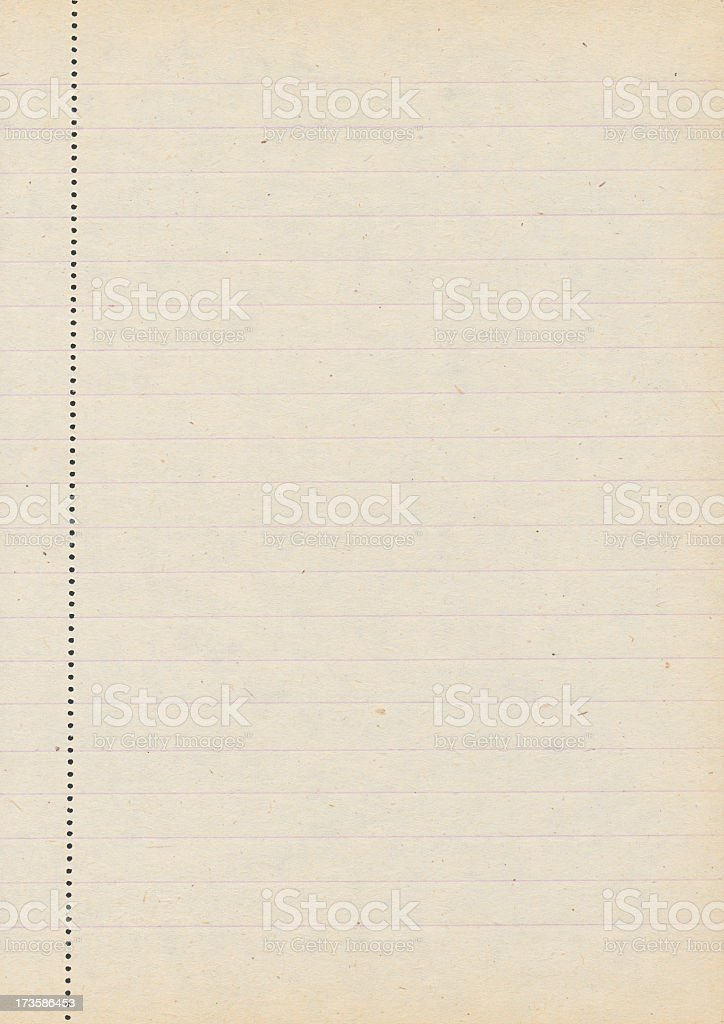 High resolution old lined paper royalty-free stock photo