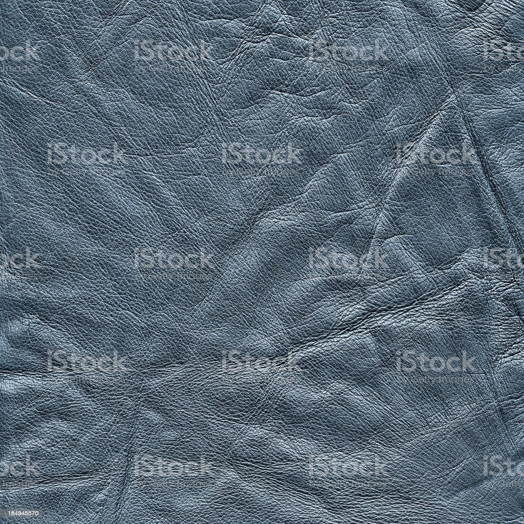 High Resolution Old Navy Blue Cowhide Crumpled Wizened Grunge Texture stock photo