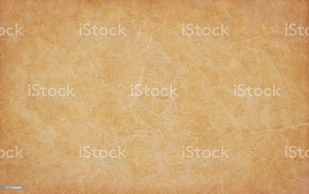 High Resolution Old Parchment (Vellum) Vignetted Grunge Texture royalty-free stock photo