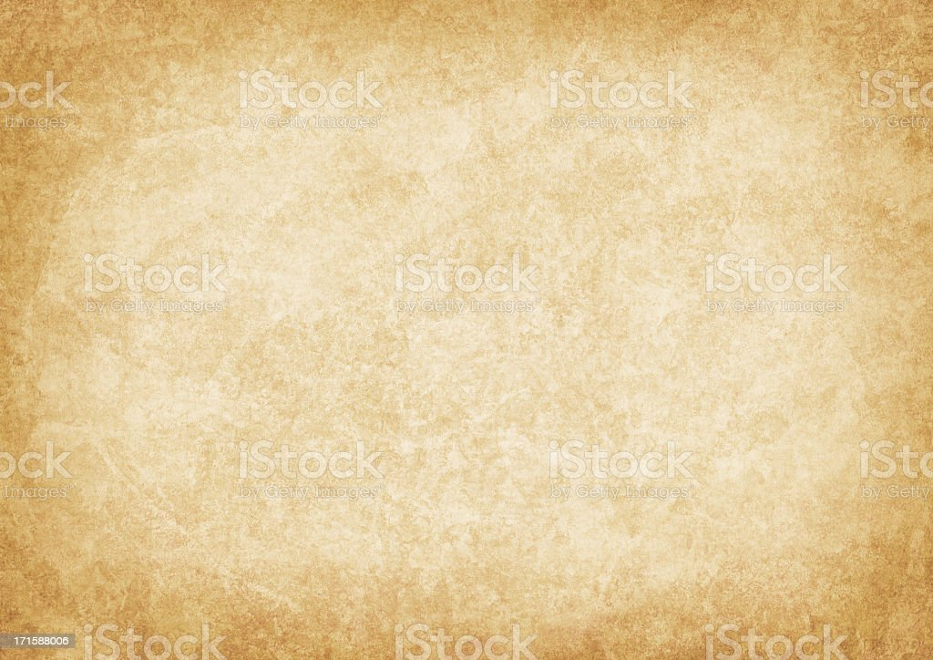 High Resolution Old Parchment Vignetted Grunge Texture royalty-free stock photo