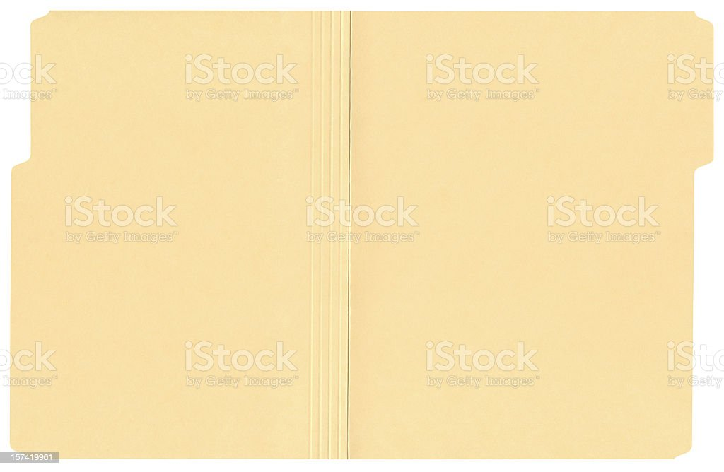High Resolution Open File Folder stock photo