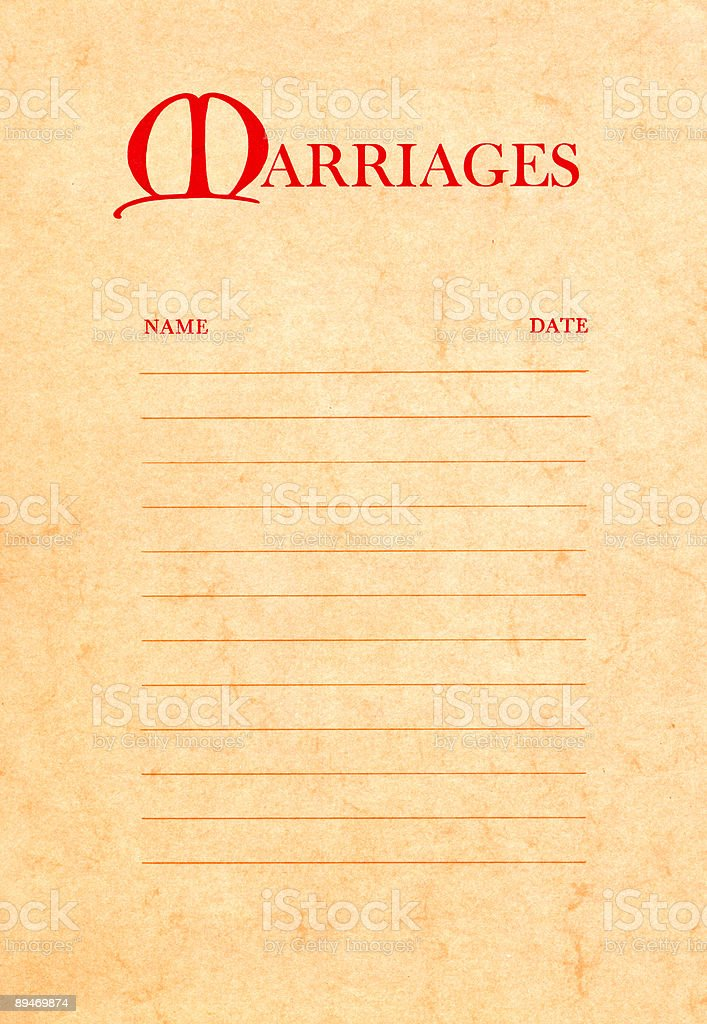 high resolution page from a 1970 Bible referencing marriage stock photo