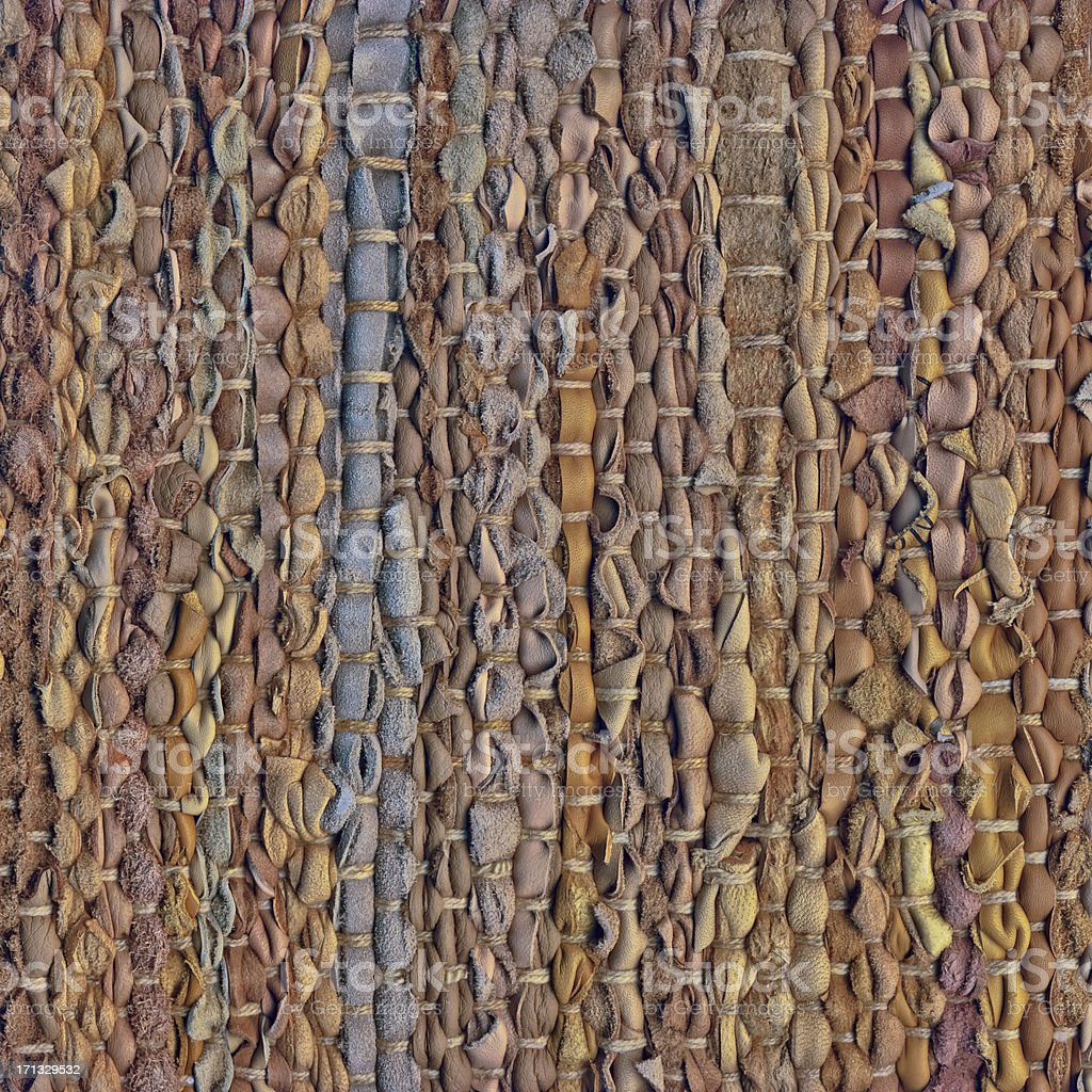 High Resolution Polychrome Woven Leather Mat Rough Grunge Texture royalty-free stock photo