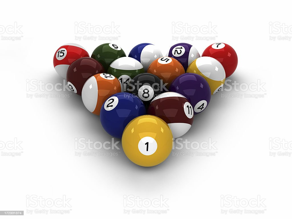 High resolution pool balls royalty-free stock photo