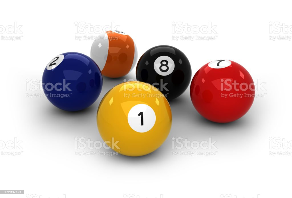 High resolution pool balls stock photo