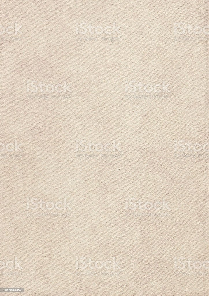 High Resolution Primed Beige Card Stock Watercolor Paper Grunge Texture royalty-free stock photo