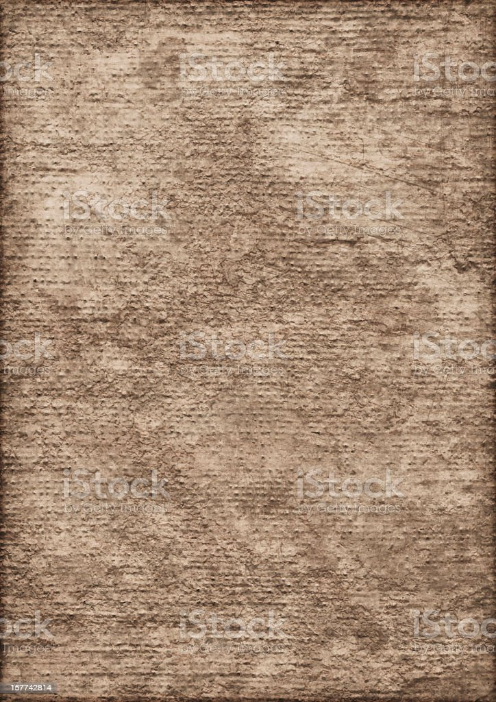 High Resolution Primed Jute Canvas Cracked Exfoliated Vignette Grunge Texture stock photo