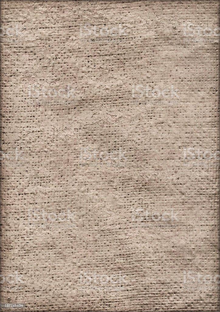 High Resolution Primed Jute Canvas Crumpled Vignette Grunge Texture stock photo