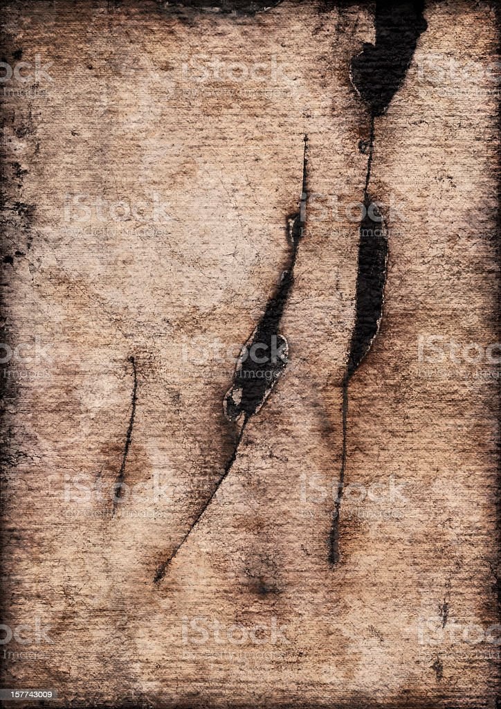 High Resolution Primed Jute Canvas Cut Burnt Vignette Grunge Texture stock photo
